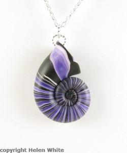 Purple Nautilus Pendant - copyright Helen White
