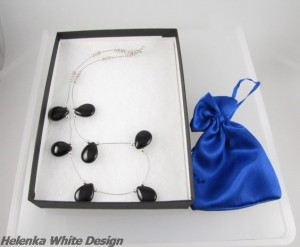 Necklace packaged before it went to the customer - copyright Helen White