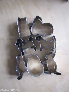 Some of my new cookie cutters I bought in Cologne - copyright Helen White